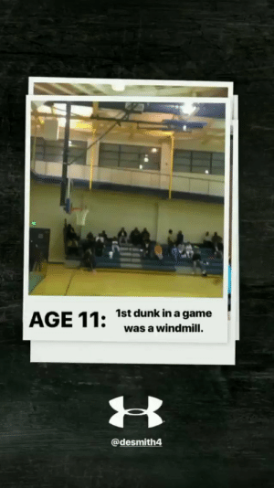 At age 11, Dennis Smith Jr's 1st dunk in a game was...a windmill!?!?!   https://t.co/h7RtZj4fbU: 1st dunk in a game  was a windmill.  @desmith4 At age 11, Dennis Smith Jr's 1st dunk in a game was...a windmill!?!?!   https://t.co/h7RtZj4fbU
