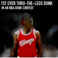 "Dunk, Memes, and Nba: 1ST EVER THRU-THE-LEGS DUNIK  IN AN NBA DUNK CONTEST ""Flashy"" in 1984 😂😂"