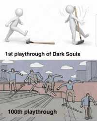 Tumblr, Blog, and Dark Souls: 1st playthrough of Dark Souls  100th playthrough welovegamingz:Pretty much