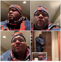 Club, Hype, and Memes: 1st Quarte  2nd QuarterA  CLUB DU  arter  4th Quarter #SpiceReactions I'm HYPE!!!!!! CONGRATULATIONS TO THE NFC NORTH CHAMPIONS THE @ChicagoBears!! Security let me in #ClubDub again!! 🙌🏾 https://t.co/CBLsYMRQZq