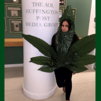 *smokes weed once* Celebrating 420 the only way I know how: hanging at The @HuffingtonPost dressed as a weed leaf🚬🍁: THE AOL  HUFFINGTON  POST  MEDIA GROUP *smokes weed once* Celebrating 420 the only way I know how: hanging at The @HuffingtonPost dressed as a weed leaf🚬🍁