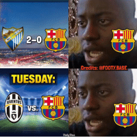 Barcelona Fans: 😳 Score predictions for JUVE-BARCA? Winner gets a story shoutout! 👇 Double Tap & Follow @footy.base for more! ❤️: 2-0  F C B  TUESDAY:  jUVENTUS  VSS  FC B  Footy Base  F C B  Credits: @FOOTY BASE  F C B Barcelona Fans: 😳 Score predictions for JUVE-BARCA? Winner gets a story shoutout! 👇 Double Tap & Follow @footy.base for more! ❤️