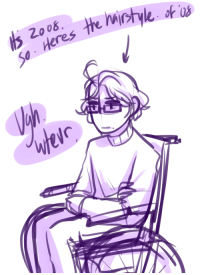 ask-art-student-prussia:  uh what is 2008 minus 1993 uhhhh fuckin uhhhh15.here's 15 year old rod in a wheelchair bc i remember somewhere in the hetalia canon he was in a wheelchair at one time: 2.0  Heres ask-art-student-prussia:  uh what is 2008 minus 1993 uhhhh fuckin uhhhh15.here's 15 year old rod in a wheelchair bc i remember somewhere in the hetalia canon he was in a wheelchair at one time