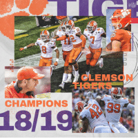 Memes, 🤖, and Clemson: 2 13  2.19  2 19  ALL  IN  ALL  IN  CLEMSON  CHAMPIONS  18/19 .@ClemsonFB = National Champions!  👉 https://t.co/vdtA05ELfi https://t.co/YvptivXRE9