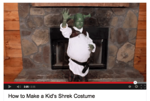 wigwams:  rise : 2:25/2:35  How to Make a Kid's Shrek Costume wigwams:  rise