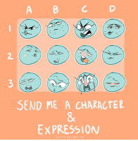"Meme, Target, and Tumblr: 2  3  0  SEND ME A CHARACTER  8  EXPRESSION  maka-the-bug. tumblr.com <p><a href=""http://maka-the-bug.tumblr.com/post/157570942738/ive-always-wanted-to-make-my-own-art-meme-and-i"" class=""tumblr_blog"" target=""_blank"">maka-the-bug</a>:</p> <blockquote> <p>I've always wanted to make my own art meme and I finally did!</p> <p><b>I'm not doing this myself (yet) so don't send me anything. But feel free to reblog and do this yourself </b></p> </blockquote>"