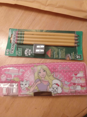 My Dad sent me school supplies. I'm 35M and a freshman in college for the first time.:  #2  4 HB  33309  TICONDEROGA  MY  FIRST  TICONDEROGA  001  AMLICAN  BONUS  4Ouadioys  0undesog ween-l  Premium Wood  Bels de la mellleure  colided  The Perfect Oversized  Beginner Pencil  Lopix grande, perfecto  paro aprender o eseribir  oped puob do  Sharpened  AHile Afilado  PEFC  Madn H in MssHahe My Dad sent me school supplies. I'm 35M and a freshman in college for the first time.