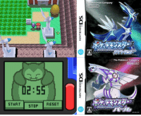 Dank, Nintendo, and Pokemon: 2:5  START STOP  RESET  The Pokémon Company  Nintendo  The Pokémon Company  Nintendo  OO On this day in 2006, ten years ago, Pokémon Diamond & Pearl were first released in Japan. These games were the first Nintendo DS Pokémon games and begun the fourth generation. With 107 new Pokémon, the games introduced various new features including the Physical/Special split, Super Contests and the story of Team Galactic. Did you get these games? Which Pokémon of this generation is your favourite? What memories do you have of them? http://www.serebii.net/diamondpearl