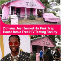 "Church, Instagram, and Memes: 2 Chainz Just Turned His Pink Trap  House Into a Free HIV Testing Facility ✊🏾❤✊🏿2 Chainz may be one of hip-hop's biggest philanthropists, but he's always doing it in style with unique ideas on how to give back. That's what he's now continuing with his very popular Pink Trap House in Atlanta. Today (July 4), the hometown rapper's transforming the space into a temporary site for free HIV testing. Chainz, the Fulton County Board of Health, Test Atlanta, and Atlanta Aids all partnered for the Trap Clinic, offering free tests between 11 am and 3:30 pm local time. This comes after the man formerly known as Tity Boi, used the Pink Trap House as a Trap Church for a service. ""I appreciate 2 Chainz and the whole team for putting this house up because in a lot of respects it's reminding people that this is a real thing in our city,"" Pastor Michael Wortham told local station Fox 5 Atlanta on Sunday. ""So people come and take pictures, put it up on Instagram and walk away, but there are a lot of people who aren't able to walk away from this daily reality."" HIV AIDS health preventativecare"
