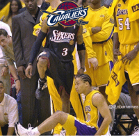 Cavs did him dirty...: 2  CLEVEL AND  AUALIERS  AKE  Akik  54  ERS  @lit.nbamemes Cavs did him dirty...