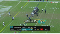 Philadelphia Eagles, Memes, and Wow: 2  Current Drive Plays 8 Yards 64 4:02  EAGLES  3-4 17 JAGUARS 34  3rd 4:37 02 3rd & 7 Wow.  This Bortles-to-@DedeTHEGreat11 TD was PERFECT.  📺: @nflnetwork #DUUUVAL https://t.co/tMiG1tYgOP