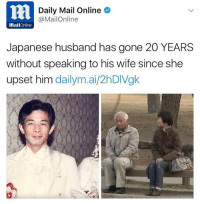 The definition of petty 😳😂: 2 Daily Mail Online  @MailOnline  MailOnline  Japanese husband has gone 20 YEARS  without speaking to his wife since she  upset him  dailym.ai/2hDIVgk The definition of petty 😳😂
