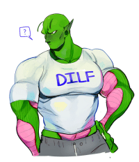 Gohan, Piccolo, and Tumblr: 2  DILF fuckrashida: tigermaskbf: so i did draw piccolo. and hes never gonna accept a present from gohan ever again. My Black King 💖