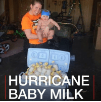 Family, Memes, and Breastfeeding: 2  HURRICANE  BABY MILK This mum has donated her breast milk to help young victims of Hurricane Harvey. Danielle Palmer, from Missouri, froze 30 litres of breast milk from when her son Truett was born. He has congenital heart disease and couldn't breastfeed. breastfeeding breastmilk family motherhood hero hurricaneharvey missouri
