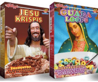Christmas, Latinos, and Asl: 2  KRISPIs  ELICLAVOIDORADO  VETEIDE VACACIONES  ASL Christmas cereal for Latinos