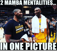 Nba, One, and Picture: 2 MAMBA MENTALITIES  -@NBAMEMES  CLEVELAI  BASKETS  IN ONE PICTURE Does Kyrie have that Mamba Instinct? 🤔 ➡Snapchat 👻 - ballershype ➡TURN ON POST NOTIFICATIONS 💥 ➡ FOLLOW @ballershype❗ Tags: nba nbamemes