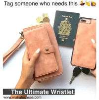 Tag a girl who is always on the move 💃Perfect accessory from @mahalocases to keep your cards, cash, coins, phone & even passport together 👌 Shop www.mahalocases.com & take up to 25% off 🎉 Follow @mahalocases @mahalocases: 2  Tad someone who needs this  CANADA  PASSPORT  PASSEPORT  The Ultimate Wristlet  www.mahalocases.com Tag a girl who is always on the move 💃Perfect accessory from @mahalocases to keep your cards, cash, coins, phone & even passport together 👌 Shop www.mahalocases.com & take up to 25% off 🎉 Follow @mahalocases @mahalocases