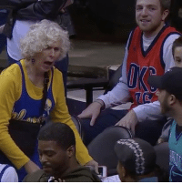 Memes, Old Woman, and SportsCenter: 2  VI StephCurry made this 80-year-old woman's day during halftime. 👏🙌 Warriors vs. Hornets @sportscenter WSHH