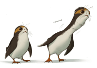 Tumblr, Blog, and Com: 2 woooop shoomlah:  I was trying to sort out/improve on Porg anatomy but also: what if they had extendable heron necks, Y/N