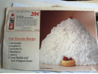 Cream, Real, and Whipped Cream: 20  20e off  Our Favorite Reci  real whipped cream Serving Suggestion.