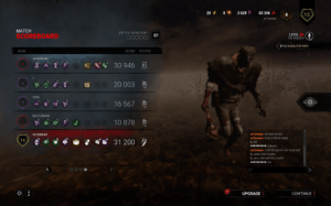yep the matchmaking system is at its best: 20  3 620  83 346  4  15  salumaan  MATCH  DID YOU HAVE FUN?  LEVEL 46  SCOREBOARD  THE WRAITH  [F1] CHARACTER INFO  SCORE  RANK  STATUS  30 946 A  20 003  SORA  16 567  MASTERMIND  I 10 878  salumaan: oh look at this  SA1UMAAN  salumaan: look at these ranks  14  * 31 200 7  L: XD  IIIII…I: hohoho  salumaan: i still did good i am surprised  L: ranks dont matter  L: yes u did well this match  IIII-I: thx  UPGRADE  CONTINUE yep the matchmaking system is at its best