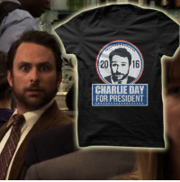 Charlie, Hello, and Memes: 20  CHARLIE DAY  FOR PRESIDENT Order yours here! http://itsalways.com/charlie2016  Hello fellow American. This you should vote me. I leave power. Good. Thank you, thank you. If you vote me, I'm hot. Taxes, they'll be lower... son. The Democratic vote is the right thing to do Philadelphia, so do.