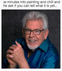 Rolf Harris memes need to make a comeback into the ironic world.: 20 minutes into painting and chill and  he ask if you can tell what it is yet.. Rolf Harris memes need to make a comeback into the ironic world.