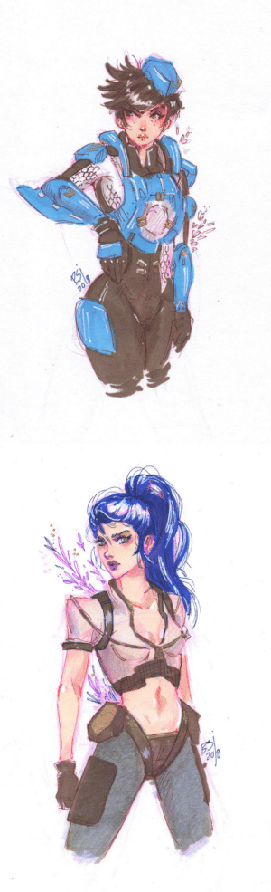 Tumblr, Blog, and Etsy: 20 radsity:  something for the current archives event!! Both of these ladies are available on my Etsy.Buy them here!