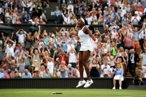 WHAT A COMEBACK.  15-year-old Coco Gauff advances to the Round of 16 at Wimbledon 🔥: 20 WHAT A COMEBACK.  15-year-old Coco Gauff advances to the Round of 16 at Wimbledon 🔥