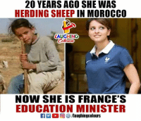 Najat Vallaud-Belkacem: 20 YEARS AGO SHE WAS  HERDING SHEEP IN MOROCCO  LAUGHING  NOW SHE IS FRANCE'S  EDUCATION MINISTER Najat Vallaud-Belkacem
