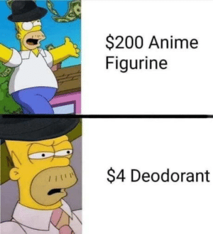 laughoutloud-club:  Big Anime Tiddies Though: $200 Anime  Figurine  $4 Deodorant laughoutloud-club:  Big Anime Tiddies Though