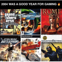 Comment your favorite 😍 Battlefront 1 & 2 were my thinggg ✌🏼 - New follower? Welcome to my page 😈 Follow my backup @memy.memes 💙 - GamingPosts Laugh CallOfDuty Lol Cod Selfie Gaming PC Xbox Funny Playstation Like XboxOne CSGO Gamer Battlefield1 Bottleflip Meme GTA PhotoOfTheDay Crazy Insane InfiniteWarfare Minecraft Kardashian YouTube Relatable Like4Like Like4Follow Overwatch: 2004 WAS A GOOD YEAR FOR GAMING  TOTAL WAR  R. 3  EA  PlayStation  2  STAR WARS  COUNTERASTRIKE Comment your favorite 😍 Battlefront 1 & 2 were my thinggg ✌🏼 - New follower? Welcome to my page 😈 Follow my backup @memy.memes 💙 - GamingPosts Laugh CallOfDuty Lol Cod Selfie Gaming PC Xbox Funny Playstation Like XboxOne CSGO Gamer Battlefield1 Bottleflip Meme GTA PhotoOfTheDay Crazy Insane InfiniteWarfare Minecraft Kardashian YouTube Relatable Like4Like Like4Follow Overwatch