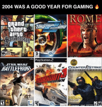 Yes it was !! 🔥🔥👌🏽: 2004 WAS A GOOD YEAR FOR GAMING  TOTAL WAR  R 3  ZA  GAMES  PlayStation  STAR WARS  COUNTER STRIKE  BATTLE  O n  a brand  singh player geming  MATURE  CD-ROH  ritma  VA I VE Yes it was !! 🔥🔥👌🏽