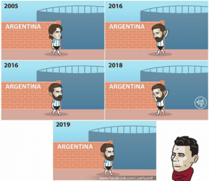 Android, Apple, and Facebook: 2005  2016  ARGENTINA  ARGENTINA  2016  2018  ARGENTINA  ARGENTINA  2019  005  ARGENTINA  www.facebook.com/Justtoonit Oh Messi retire / Oh Messi return / Oh Messi retire / Oh Messi return  เมสซี่เลิกเล่นทีมชาติแล้วครับ เมสซี่กลับมาเล่นทีมชาติแล้วครับ เมสซี่เลิกเล่นทีมชาติอีกแล้วครับ เมสซี่กลับมาเล่นทีมชาติอีกแล้วครับ  ▶ Download free livescore apps here on iOS and Android ▶ ดาวน์โหลดแอพผลบอลฟรีได้แล้ววันนี้ ทั้ง iOS และ Android 📲 iOS : https://apple.co/2HLLsmL 📲 Android : https://bit.ly/2RzkBdu #MUNLIV #FinalGoal #ผลบอลสดครบทุกแมตช์