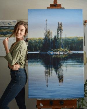 Painting, Brooke, and  No: 201  aber/No Painting by Brooke Cormier