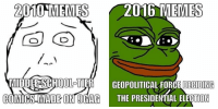 Internet memes, then and now. http://bit.ly/2dbJo8T Credit: I Am Monkey | FunnyJunk: 2010 MEMES  2016 MEMES  MIDDLESEHOOLETIER GEOPOLITICAL FORCE DECONG  COMICS MADE ON SGAG  THE PRESIDENTIAL ELECTION Internet memes, then and now. http://bit.ly/2dbJo8T Credit: I Am Monkey | FunnyJunk