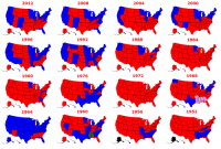 """Click, Presidential Election, and Tumblr: 2012  2008  2004  2000  1996  1992  1988  1984  1980  1976  1972  1968  1964  1960  1956  1952 <p><a href=""""http://land-of-maps.tumblr.com/post/155259360736/united-states-presidential-election-results"""" class=""""tumblr_blog"""">land-of-maps</a>:</p>  <blockquote><p>United States Presidential Election Results 1952-2012 [1126 x 748]<br/><a href=""""http://landofmaps.com/"""">CLICK HERE FOR MORE MAPS!</a></p></blockquote>"""