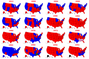 Click, Presidential Election, and Tumblr: 2012  2008  2004  2000  1996  1992  1988  1984  1980  1976  1972  1968  1964  1960  1956  1952 land-of-maps:  United States Presidential Election Results 1952-2012 [1126 x 748]CLICK HERE FOR MORE MAPS!