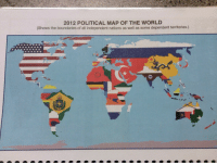 """School, Tumblr, and Blog: 2012 POLITICAL MAP OF THE WORLD  (Shows the boundaries of all independent nations as well as some dependent territories.) <p><a href=""""http://mapfail.tumblr.com/post/108647237809/slightly-inaccurate-map-in-last-years-school"""" class=""""tumblr_blog"""">mapfail</a>:</p><blockquote><p>Slightly inaccurate map in last year's school planner.</p></blockquote>  <p>WE WILL TAKE GREENLAND! CANADA! MEXICO! ALL YOUR BASE ARE BELONG TO US.</p>"""