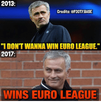 "Life, Memes, and Respect: 2013  Credits: FOOTY BASE  ""I DONT WANNA WIN EURO LEAGUE.""  2017  WINS EURO LEAGUE Thug Life 😂 Thoughts on the game? 👇 Respect to Ajax too 🙌 Double Tap & Follow me @footy.base for more ❤️"