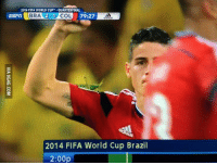 Did anyone notice the gigantic bug on James' arm after he scored against Brazil? http://9gag.com/gag/aBK7KgO?ref=fbp  #worldcup #colombia: 2014 FIFA WORLD CUP .QUARTERFINAL  BRA 2-1 COL  79:27  2014 FIFA World Cup Brazil  2:00p Did anyone notice the gigantic bug on James' arm after he scored against Brazil? http://9gag.com/gag/aBK7KgO?ref=fbp  #worldcup #colombia