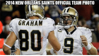 Nfl, New Orleans Saints, and New Orleans Saints: 2014 NEWORLEANS SAINTS OFFICIAL TEAM PHOTO  GRAHAM  NFLMEME1 2014 New Orleans Saints Official Team Photo! Credit: Paul Joseph Meunier