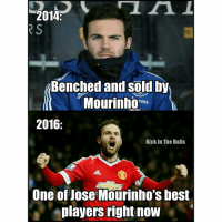 Juan Mata is on form! 😎 🔺FREE iPhone football emojis, link in our bio!!! 🔥: 2014  RS  Benched and sold by  Mourinho  SUNG  2016  Kick In The Balls  One of Jose Mourinho's best  players right now Juan Mata is on form! 😎 🔺FREE iPhone football emojis, link in our bio!!! 🔥