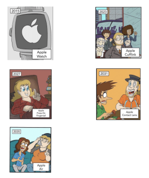 oH nO My iNhaLeR!!!1!1!1!: 2015  2023  Apple  Cufflink  Apple  Watch  2031  2027  Apple  Press-On  Apple  Contact Lens  Fingernail  2035  Apple  Air oH nO My iNhaLeR!!!1!1!1!