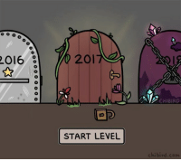 Gif, Memes, and Birds: 2016  201  START LEVEL  CHIBIRD  chi bird com You've unlocked a new level 2017! Good job on collecting the star ⭐️ for 2016, and good luck on your newest adventure. Happy new year, players! :D cute 2017 2016 newyear chibird art animation gif videogames nye2017