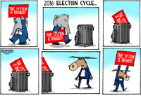 """<p><a class=""""tumblr_blog"""" href=""""http://theweekmagazine.tumblr.com/post/153179339377"""">theweekmagazine</a>:</p> <blockquote> <p><b><a href=""""http://theweek.com/cartoons?utm_source=links&amp;utm_medium=website&amp;utm_campaign=tumblr"""">Today's best political cartoons</a></b></p> </blockquote>: 2016 ELECTION CYCLE...  THE SYSTEM  IS RIGGED!  THE SYTEM  IS RIGGED  SMAN  THE SYSTENM  IS RIGGED! <p><a class=""""tumblr_blog"""" href=""""http://theweekmagazine.tumblr.com/post/153179339377"""">theweekmagazine</a>:</p> <blockquote> <p><b><a href=""""http://theweek.com/cartoons?utm_source=links&amp;utm_medium=website&amp;utm_campaign=tumblr"""">Today's best political cartoons</a></b></p> </blockquote>"""