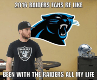Credit: hajiles_memes: 2016 RAIDERS FANS BE LIKE  RAIDERS  BEEN WITH THE RAIDERS ALL MY LIFE Credit: hajiles_memes