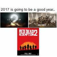 which are you most hyped for? - ✅Don't Forget To Follow✅ - Credit: me - (Hashtags) callofduty cod callofdooty xbox xbox360 xboxone ps4 gaming gamer meme codmeme videogames advancedwarfare modernwarfare joke funny like4like follow4follow blackops overwatch bo3: 2017 is going to be a good year...  D E S T  CALL DUTY  WWI  @call of dooty  ROCKSTAR GAMES PRESENTS  REDEMPTION  FALL 2017  TRAILERCOMING THURSDAY, OCTOBER 20AT11AMEST which are you most hyped for? - ✅Don't Forget To Follow✅ - Credit: me - (Hashtags) callofduty cod callofdooty xbox xbox360 xboxone ps4 gaming gamer meme codmeme videogames advancedwarfare modernwarfare joke funny like4like follow4follow blackops overwatch bo3
