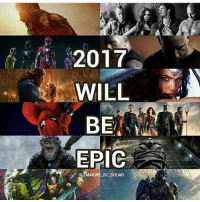 Memes, Squad, and Marvel: 2017  WILL  BE  EPIC  MARVEL DC SaUAD But not for my wallet. (by: @marvel_dc_squad) GuardiansOfTheGalaxy WarOfThePlanetOfTheApes StarLord Gamora RocketRacoon Groot Drax BabyGroot PowerRangers