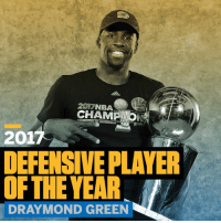 Draymond Green, Memes, and 🤖: 2017NBA  2017  DEFENSIVEPLAYER  OFTHE YEAR  DRAYMOND GREEN Another trophy for this year's collection